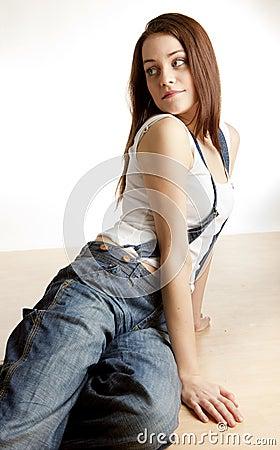 Woman on the floor