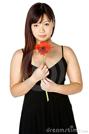 Woman And Flower