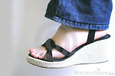 Woman foot with sandal