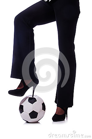 Woman with football