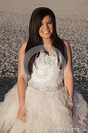 Free Woman Formal Dress Ice Close Smile Stock Photos - 36515983