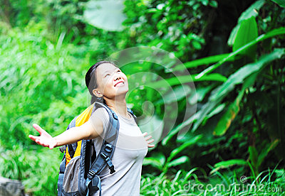 Woman free rainforest