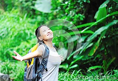Woman free rainforest