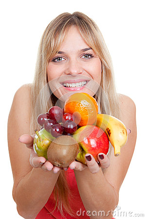 Woman fruit diet