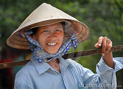 Woman Fruit Vendor, Ho Chi Minh City, Vietnam Editorial Stock Photo