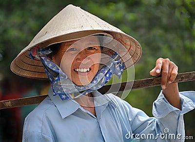 Woman Fruit Vendor, Ho Chi Minh City, Vietnam Editorial Stock Photo
