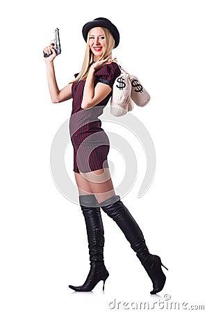 Woman gangster