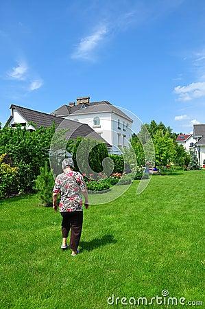 Woman on garden