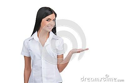 Woman gesturing.