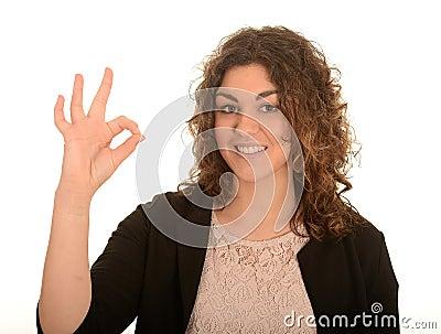 Woman gesturing okay