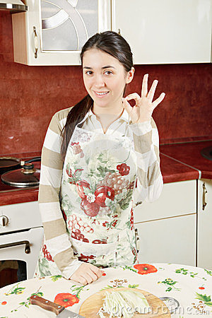 Woman gesturing okay sign