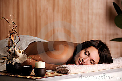 Woman get relax in the spa salon