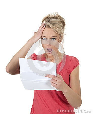 Free Woman Gets Bad News Stock Images - 31196024