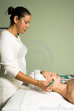 Free Woman Getting A Facial - Vertical Stock Image - 5510061