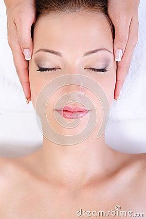 Free Woman Getting Face Massage In Spa Salon Stock Photo - 10281890