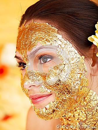 Free Woman Getting  Facial Mask . Stock Photos - 27184363