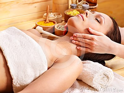 Woman Getting  Facial Massage . Stock Images - Image: 24459414