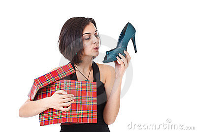 Woman getting shoes