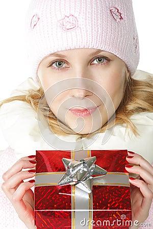 Woman and gift-box