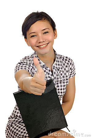 Woman Give Thumb Up