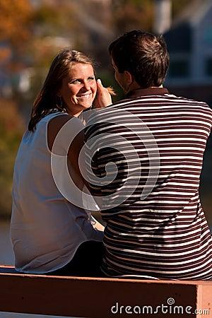 Woman Gives Boyfriend A Loving Look
