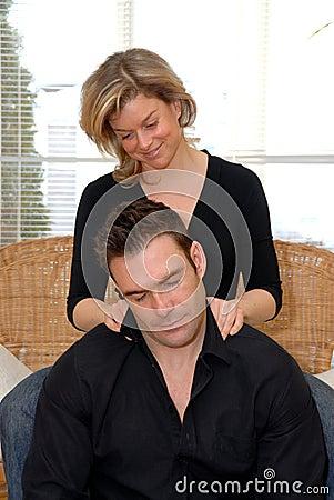 Woman giving a massage