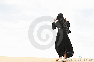 Woman going by sand hill crest