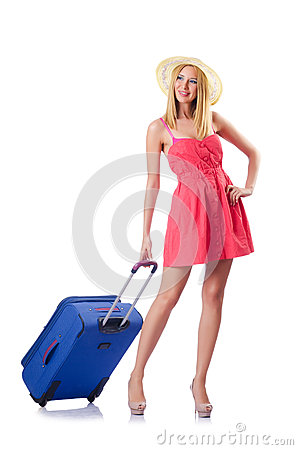 Woman going to summer vacation