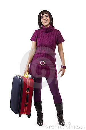 Woman going for traveling