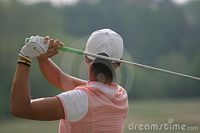 Woman golf swing Editorial Photography