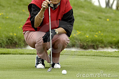 The woman the golfer