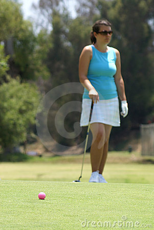 Free  Woman Golfing Stock Photography - 10322332