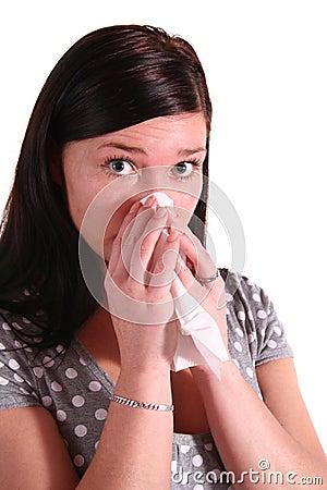 Woman got allergy