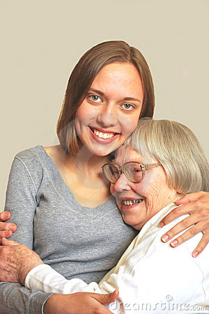 Woman with grandmother