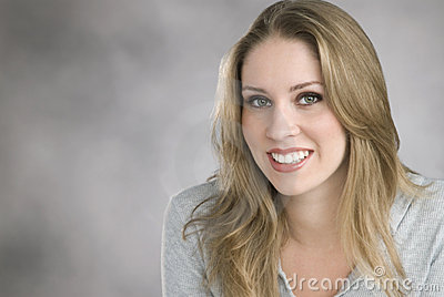 Woman with great smile