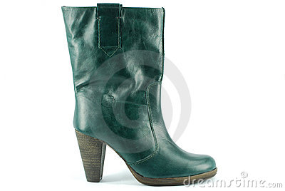 Woman green boot