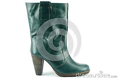 Woman green boot