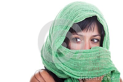 Woman with a Green Shawl