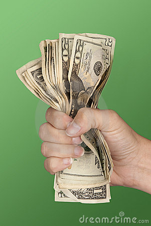 Free Woman Gripping Cash Royalty Free Stock Images - 8683889