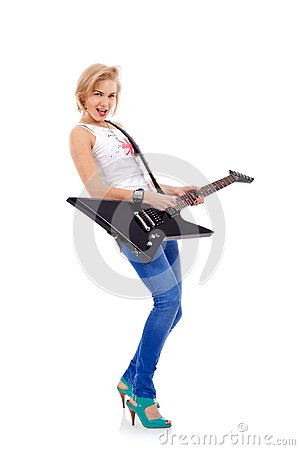 Woman with the guitar