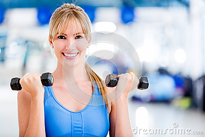 Woman ¬at the gym