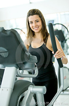 Woman at the gym - cardio