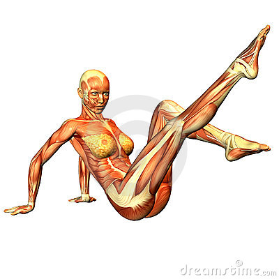 Woman in gymnastic pose
