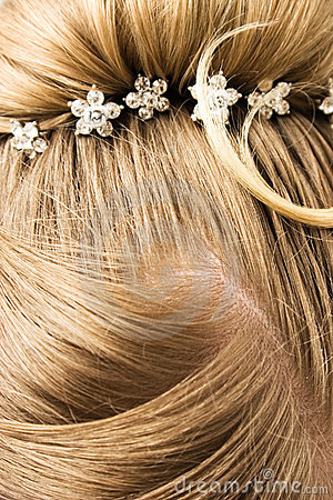 Woman hair with hair-pins