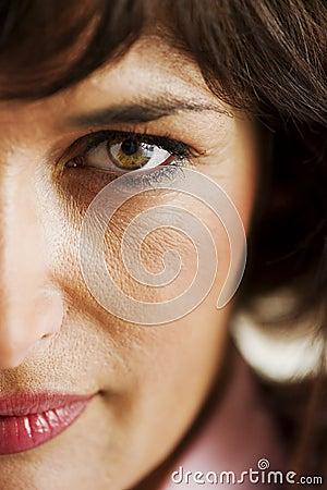 Woman Half Face