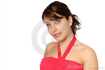 woman in halter neck