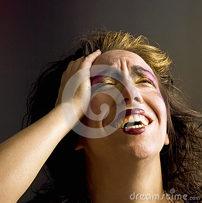 Woman With Hand On Head Royalty Free Stock Images - Image ...