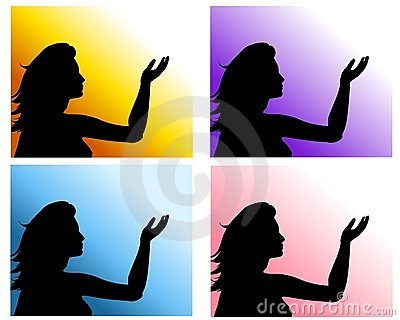 Woman Hand Raised Backgrounds