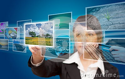 Woman hand reaching images streaming