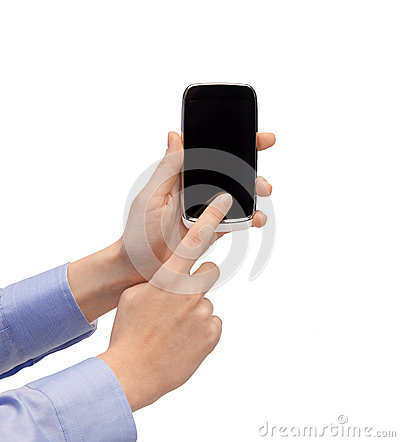Woman hand with smartphone